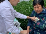 走进重庆电子职业技术学院,开展关怀退休教职工义诊活动