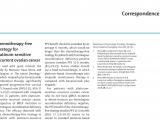 重庆大学附属肿瘤医院周琦教授团队在顶级期刊The Lancet Oncology杂志发表铂敏感复发卵巢癌去化疗策略的评论文章