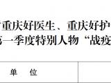"""重症医学科副主任李蕊荣获""""重庆好医生、重庆好护士""""2020年第一季度特别人物""""战疫英雄"""""""