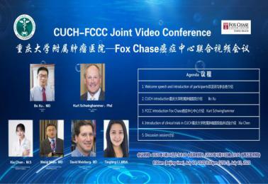 重慶大學附屬腫瘤醫院與美國Fox Chase癌癥中心開展視頻交流討論院際合作